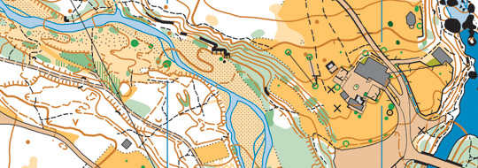 orienteering map - sprint